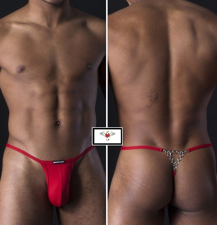 SILVER STRING THONG MANSTORE RED