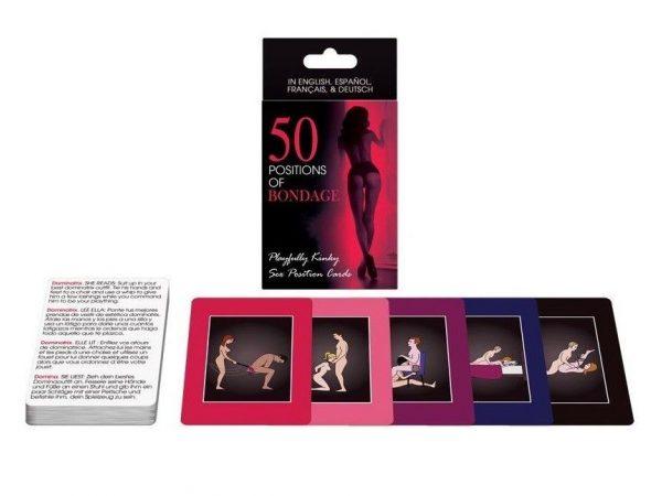 CARTAS 50 POSICIONES DE BONDAGE