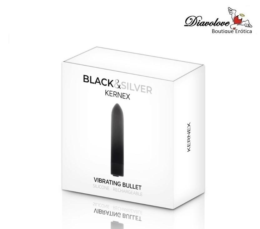 BLACK&SILVER BALA VIBRADORA KERNEX