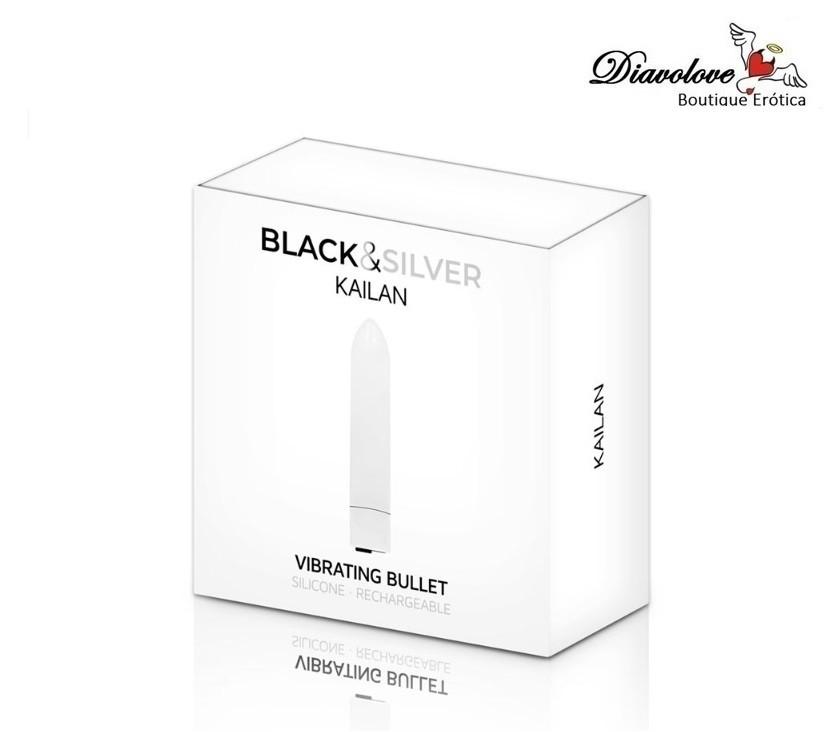 BLACK&SILVER VIBRATING BULLET KAILAN